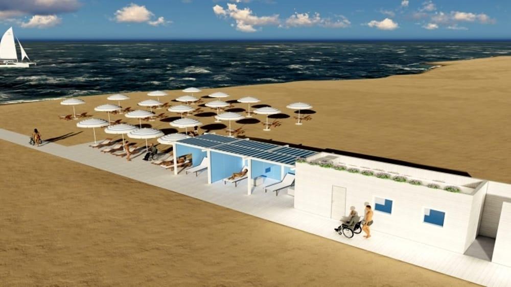 Inaugura la prima spiaggia per disabili della romagna nata dal sogno