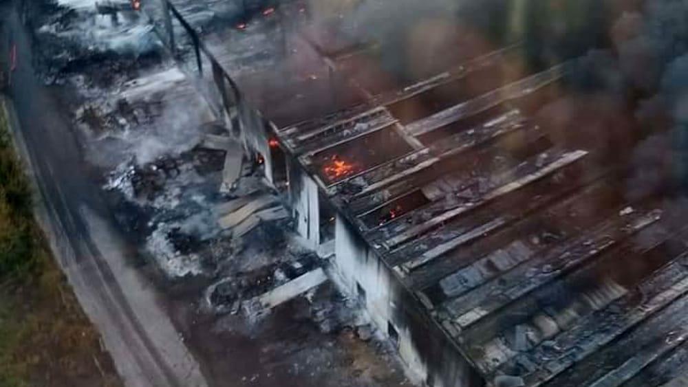 """Devastante incendio a Faenza, ricognizione del sindaco: """"Grande ..."""